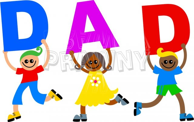 Dad with kids clipart picture library Dad Text Kids - Diverse Happy Children Clip Art – Prawny Clipart ... picture library