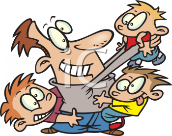 Dad with kids clipart picture royalty free stock Clipart dad and kids - ClipartFest picture royalty free stock
