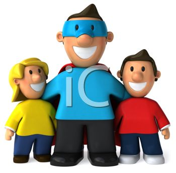 Dad with kids clipart image library 114 best ideas about Fathers Day Clipart on Pinterest | Super dad ... image library
