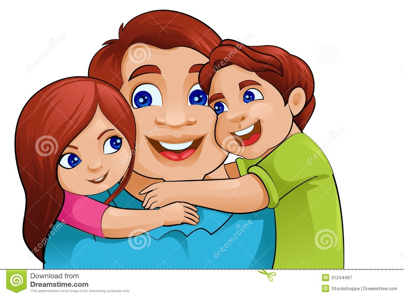 Dad with kids clipart jpg transparent download Father's Day Dad And Kids Clipart - Clipart Kid jpg transparent download