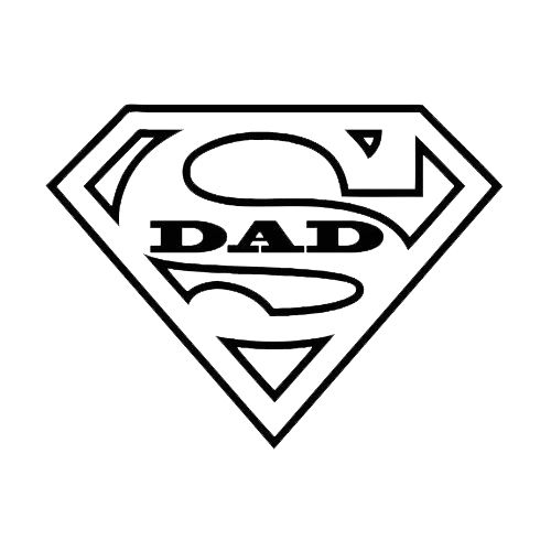Dad word clipart banner stock Superhero daddy shirt clipart - Clip Art Library banner stock