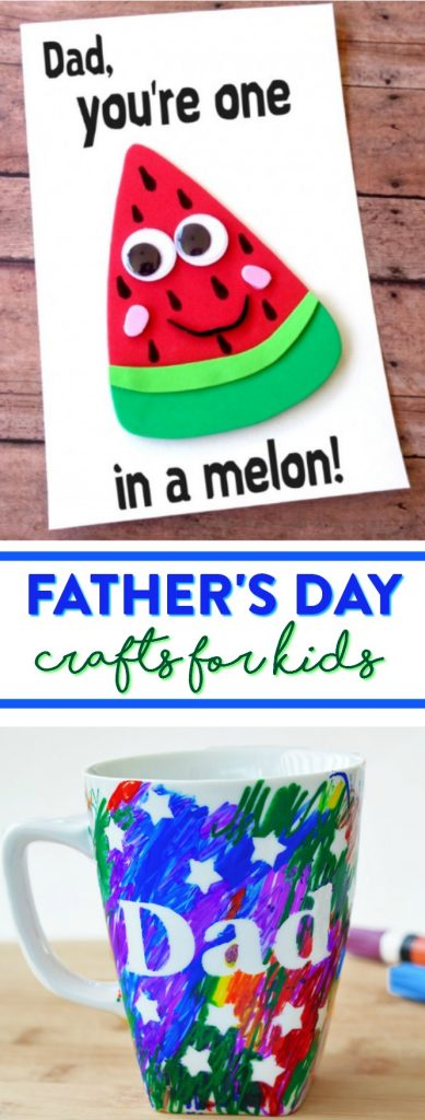 Dad you are one in a melon clipart clip freeuse library Father\'s Day Crafts For Kids - A Little Craft In Your Day clip freeuse library