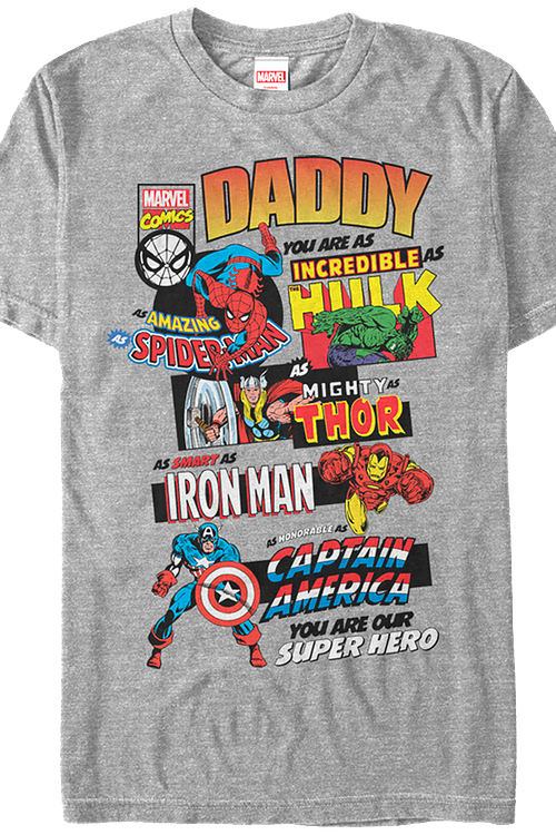 Daddy you are as smart as ironman clipart graphic black and white download Marvel Comics Father\'s Day T-Shirt graphic black and white download