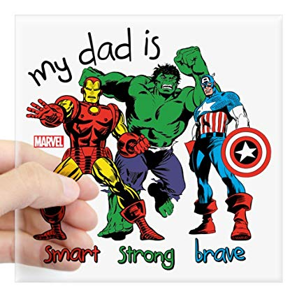 Daddy you are as smart as ironman clipart graphic library download Amazon.com: CafePress Marvel My Dad is Smart Square Sticker 3 X 3 ... graphic library download