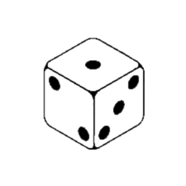 Free clipart of black and white dice picture transparent download Dice | Free Images at Clker.com - vector clip art online, royalty ... picture transparent download