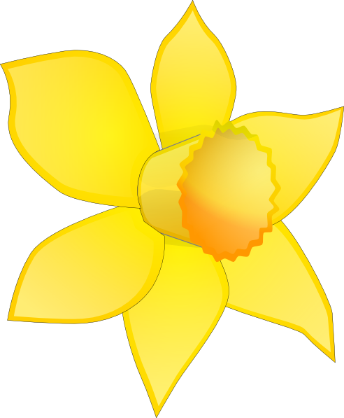 Daffocil clipart picture royalty free Daffodil Flower Clip Art   Daffodil Image Stripped Clip Art at Clker ... picture royalty free