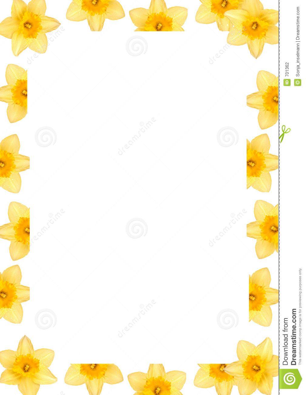 Daffodil border clipart clip art freeuse stock daffodil clip art - Google Search | Nutrition | Daffodils, Frame ... clip art freeuse stock