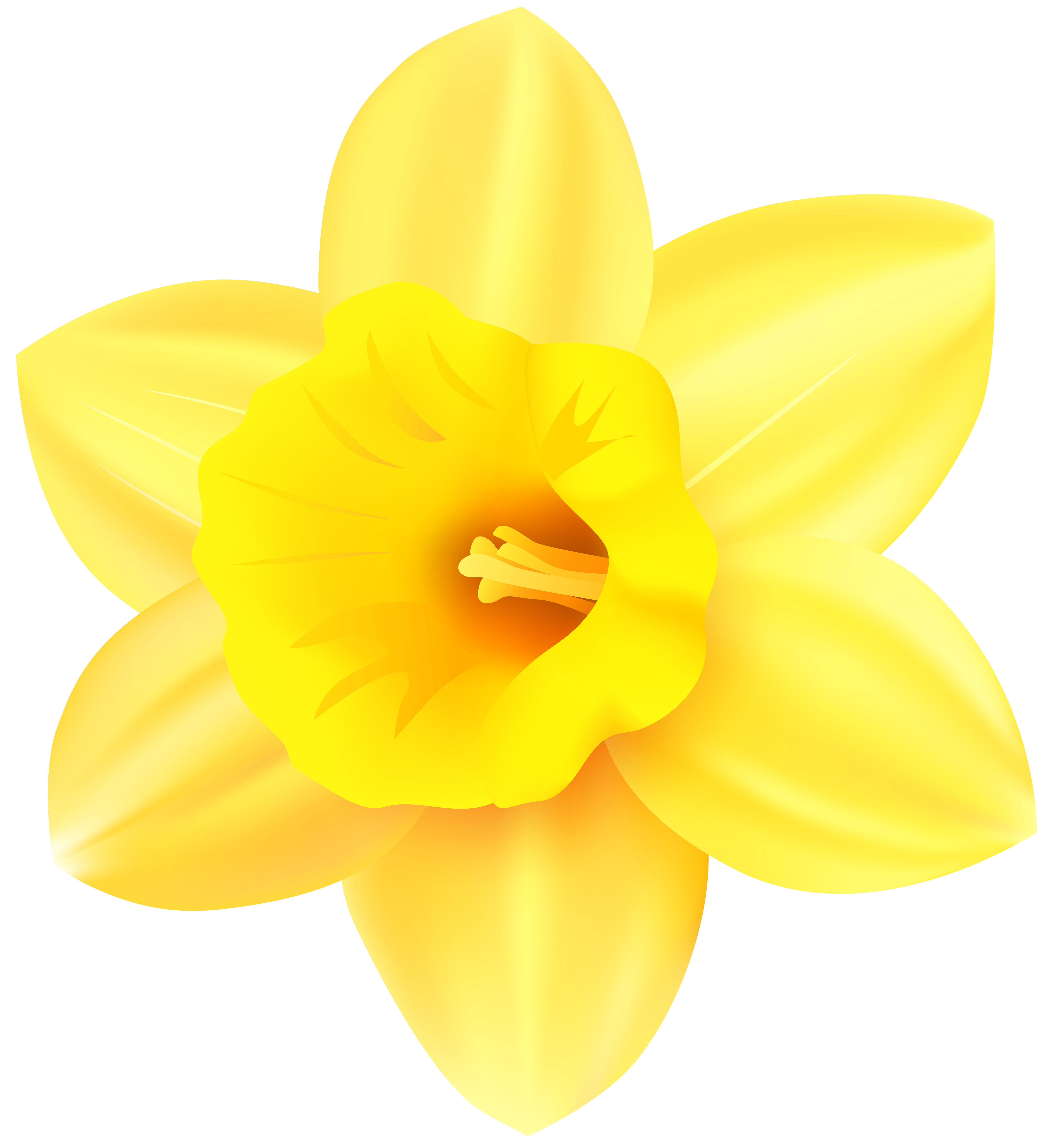 Daffodil flower clipart graphic royalty free stock Daffodil PNG Transparent Clip Art Image   Gallery Yopriceville ... graphic royalty free stock
