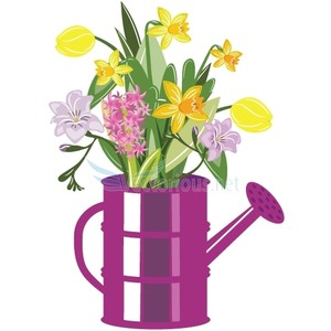 Daffodil graphics. Clipartfest vector illustration