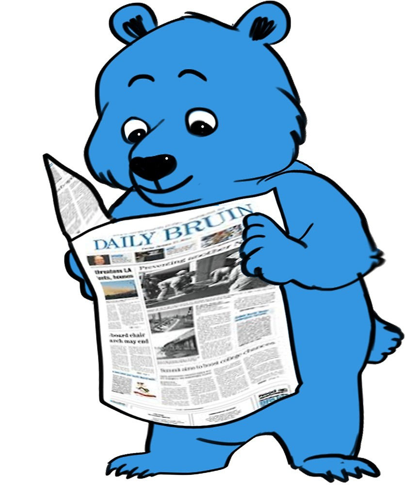 Daily bruin clipart black and white stock Daily Bruin Bear\