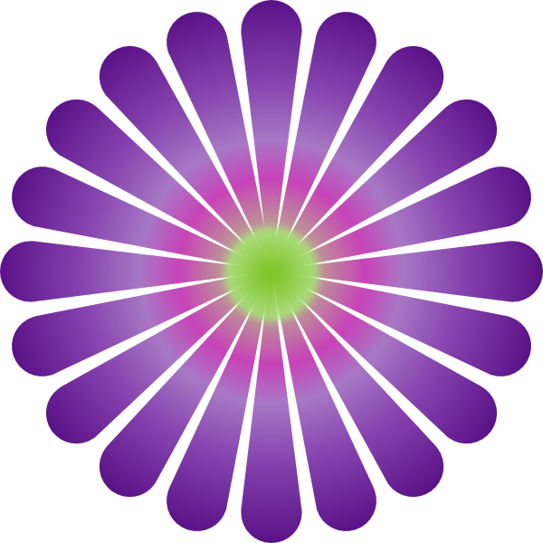 Daisy flower clipart free vector transparent library Purple Daisy Clip Art at Clker.com - vector clip art online, royalty ... vector transparent library