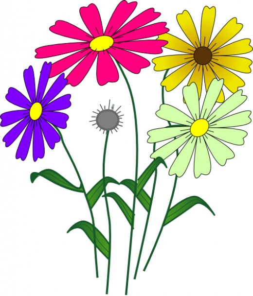 Daisies clipart jpg black and white Daisies Clipart | Free download best Daisies Clipart on ... jpg black and white