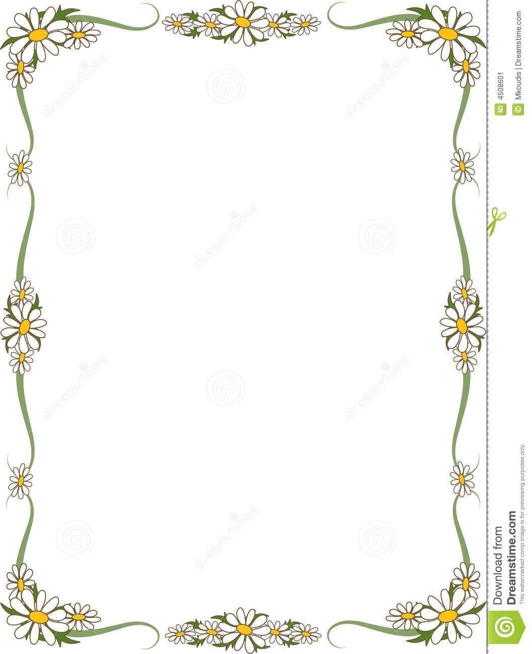 Daisy border clipart freeuse stock Image result for daisy borders images | Things for Mark ... freeuse stock