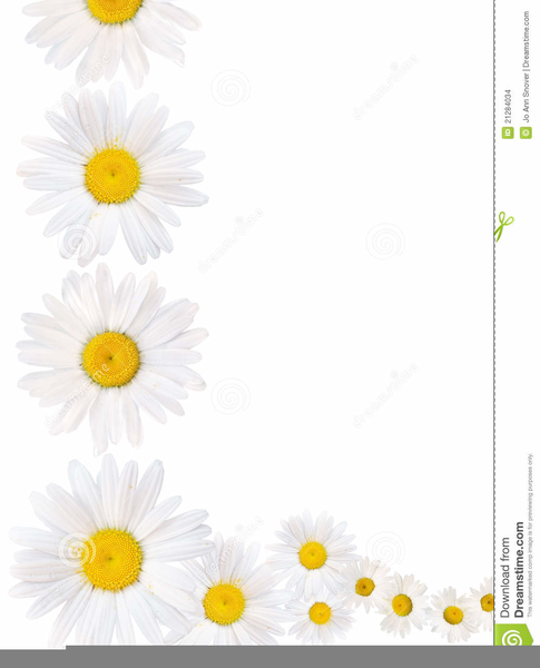 Daisy border clipart vector transparent stock Free Daisy Clipart Borders | Free Images at Clker.com ... vector transparent stock