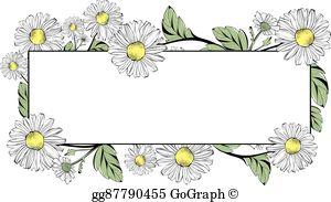 Daisy border clipart banner royalty free stock Daisy Border Clip Art - Royalty Free - GoGraph banner royalty free stock
