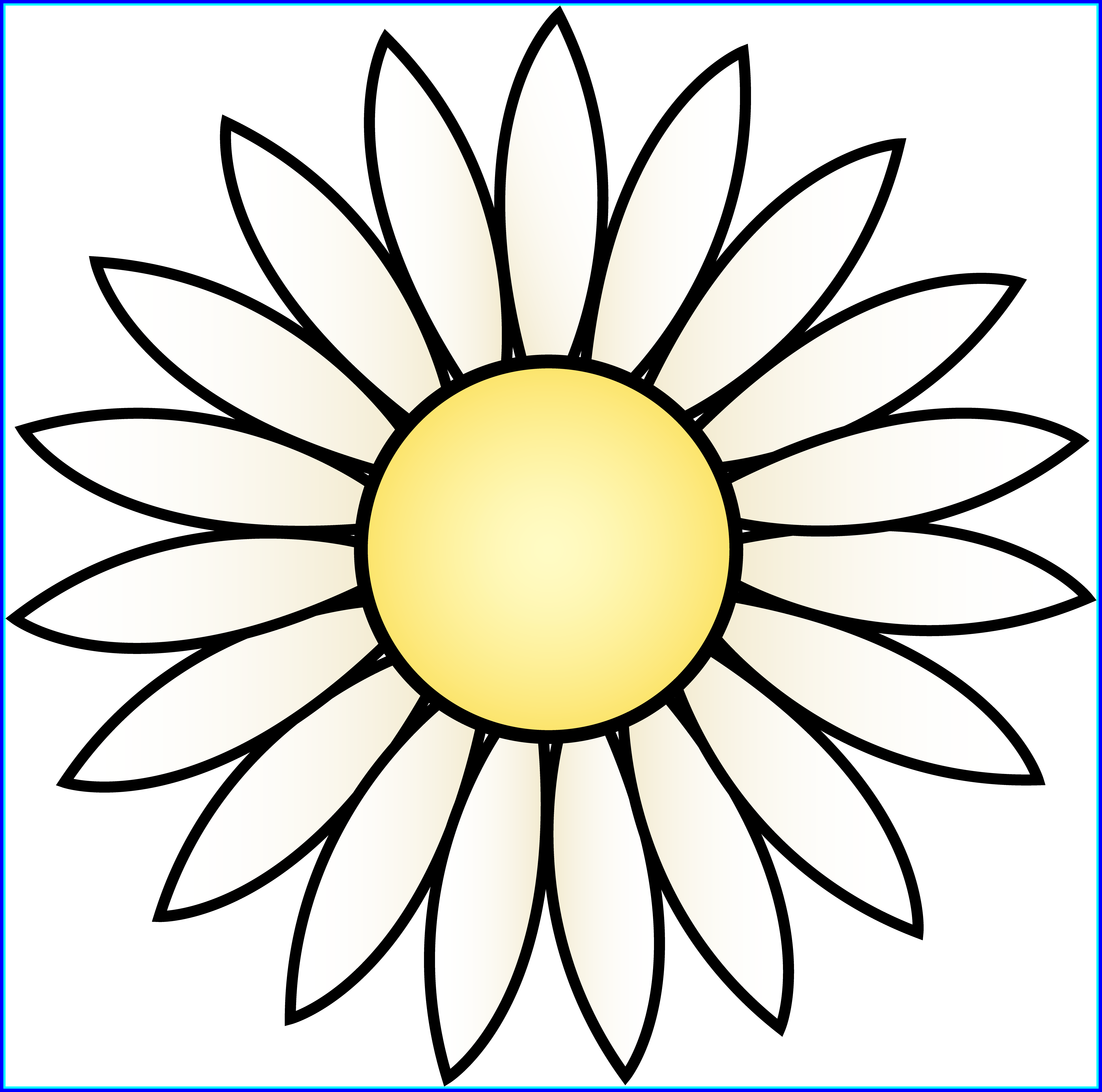 Daisy flower black and white clipart library Stunning White Daisy Flower Clip Art Depolama Picture For Site Com ... library