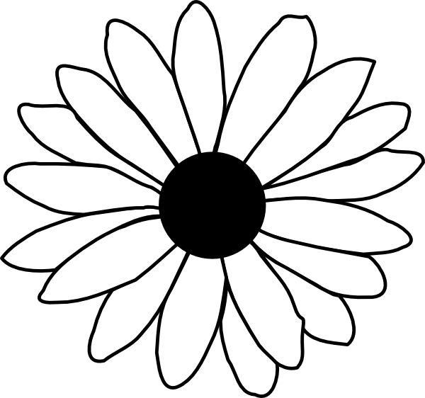 Daisy flower clipart free transparent stock Daisy Clipart Black And White | Clipart Panda - Free Clipart Images transparent stock