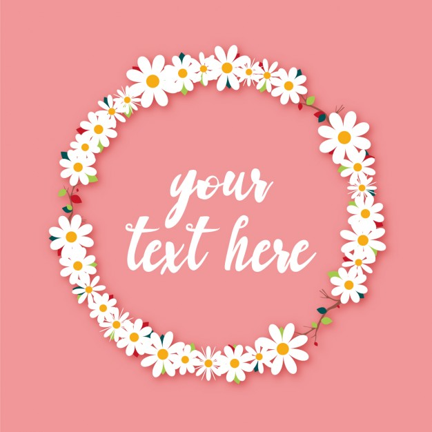 Daisy wreath clipart clipart library Daisy wreath design Vector | Free Download clipart library