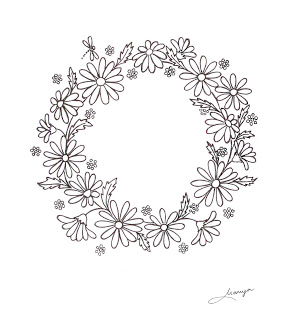 Daisy wreath clipart svg free library Humming Needles: Daisy Wreath Design svg free library