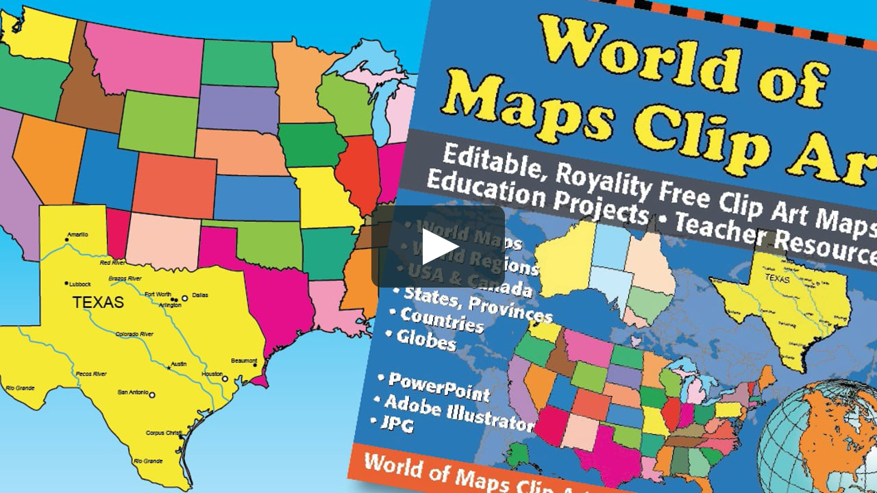 Dallas and fort worth on a clipart map clip black and white library World of Maps Clipart Editable Map for School, Presentation, Marketing,  Royalty Free, Easy to Edit clip black and white library