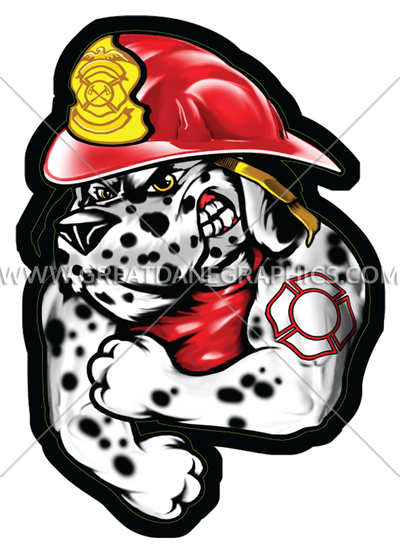 Fire dalmatian production ready. Firefighter dog clipart
