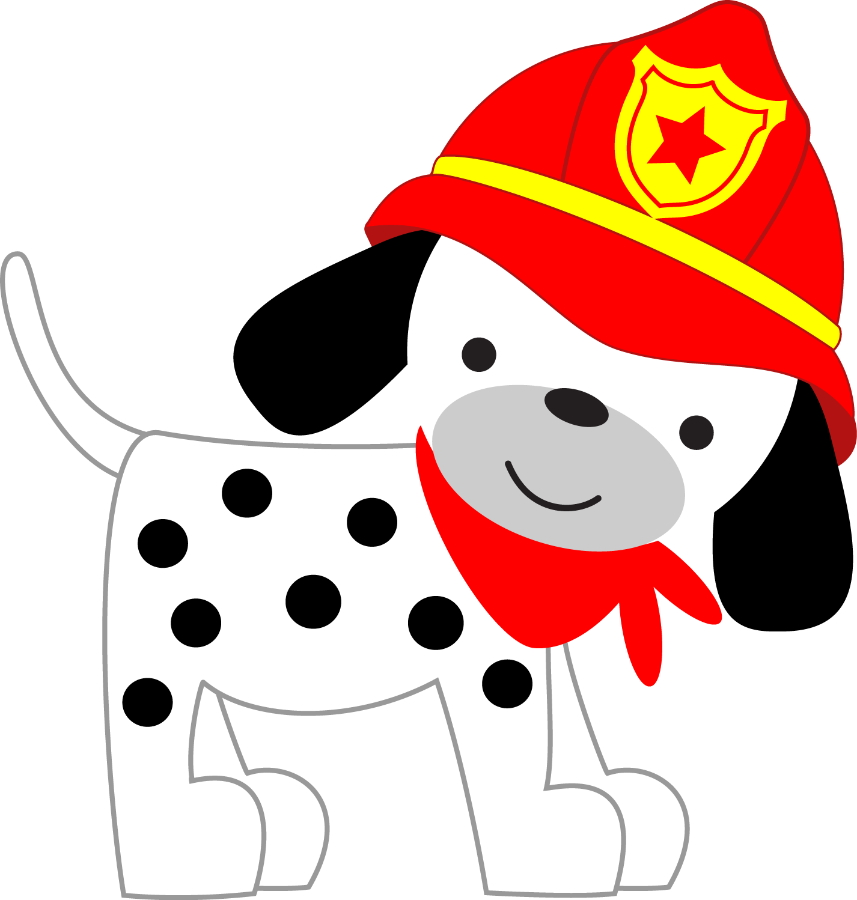 Dalmatian fire dog clipart banner royalty free stock Firefighter clipart puppy ~ Frames ~ Illustrations ~ HD images ... banner royalty free stock
