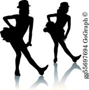 Dance clipart tap siloute png freeuse library Tap Dancing Clip Art - Royalty Free - GoGraph png freeuse library