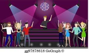 Dance floor clipart graphic freeuse Dance Floor Clip Art - Royalty Free - GoGraph graphic freeuse