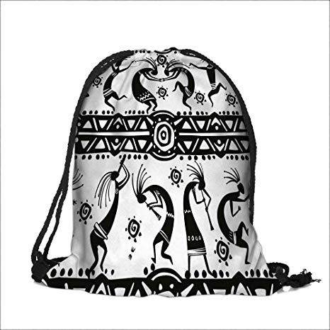 Dance line hat with draw string clipart black and white picture freeuse Amazon.com: Drawstring Sacks Bundle Pocket Bag for Kids African ... picture freeuse