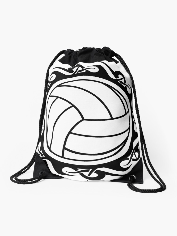 Dance line hat with draw string clipart black and white image freeuse download tribal volleyball | Drawstring Bag image freeuse download