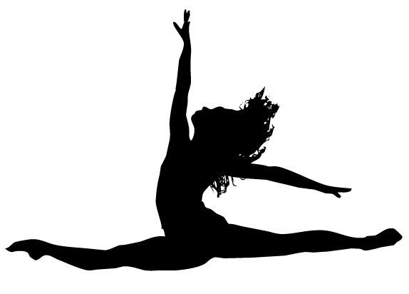 Dancer doing a leap with a tutu clipart graphic stock Leaping Beauty Silhouette Vinyl Sticker | Dance Room ideas | Dance ... graphic stock