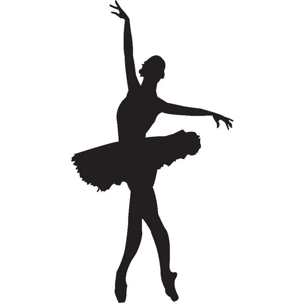 Dancer doing a leap with a tutu clipart svg transparent Dance Leap Silhouette | Free download best Dance Leap Silhouette on ... svg transparent