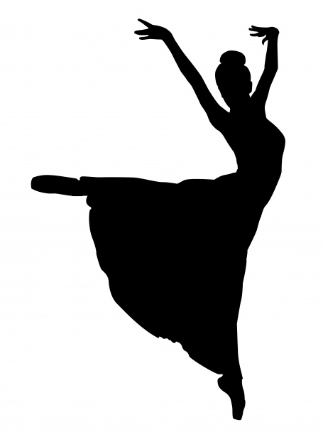 White dancer silhouette clipart black and white download Ballet Dancer Silhouette Clipart Free Stock Photo - Public Domain ... black and white download