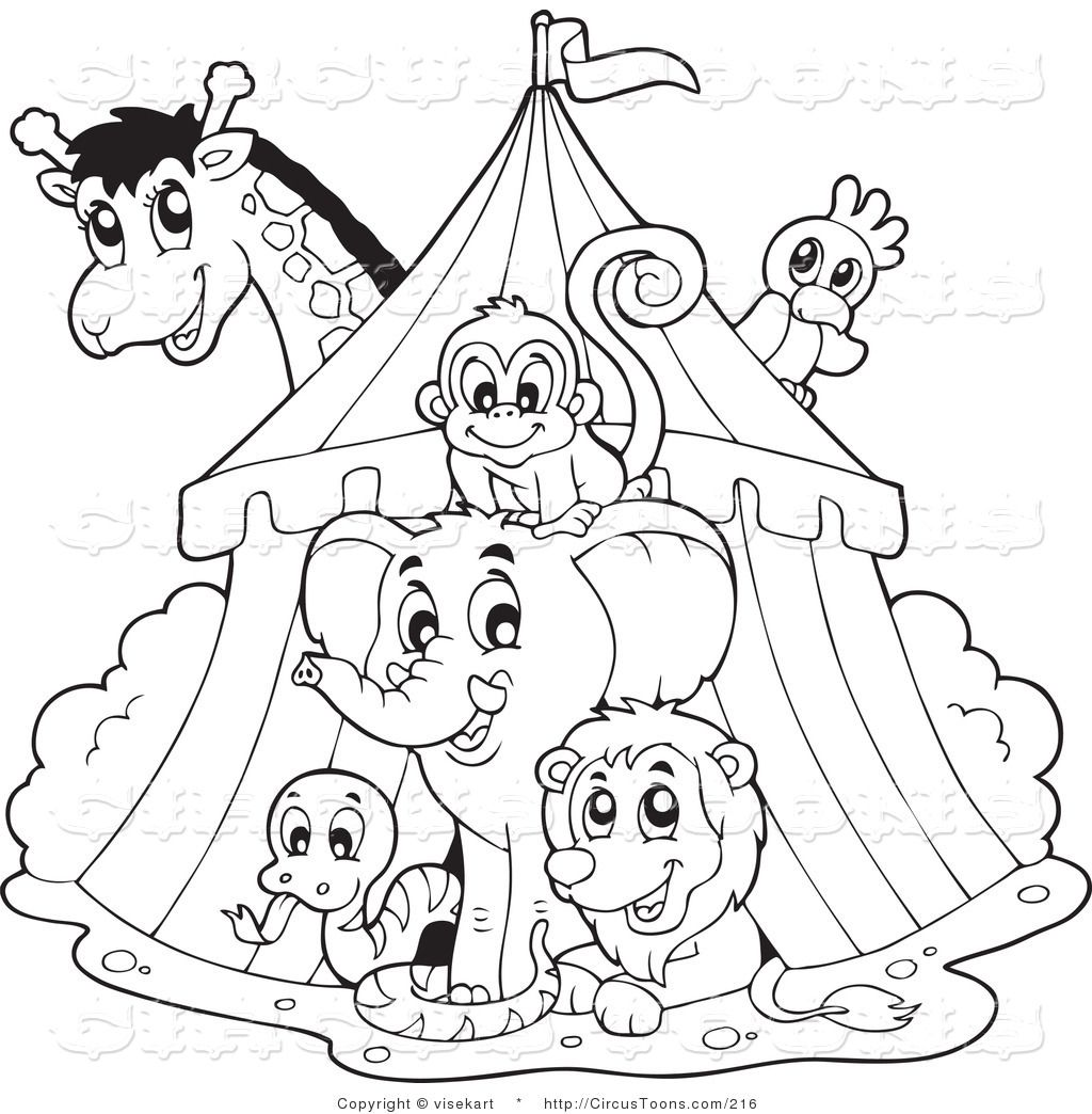 Clown and circus clipart black and white vector freeuse download clip art black and white | Circus Clipart of a Black and White Big ... vector freeuse download