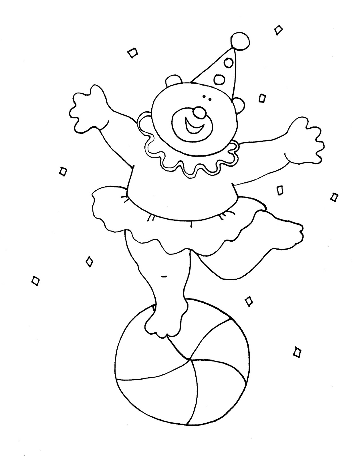 Dancing circus bear clipart black and white svg transparent stock Free Dearie Dolls Digi Stamps: Dancing Circus Bear color and B/W svg transparent stock