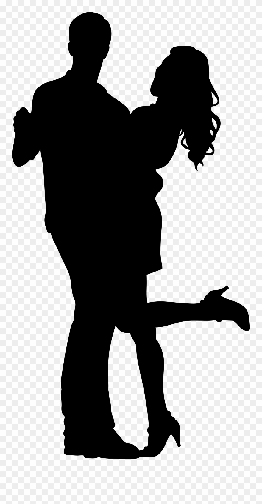 Dancing couple silhouette clipart jpg freeuse library Couple Silhouette Transparent Background Clipart (#6889) - PinClipart jpg freeuse library