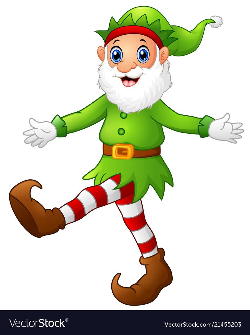 Dancing elf clipart banner freeuse Christmas old elf dancing banner freeuse
