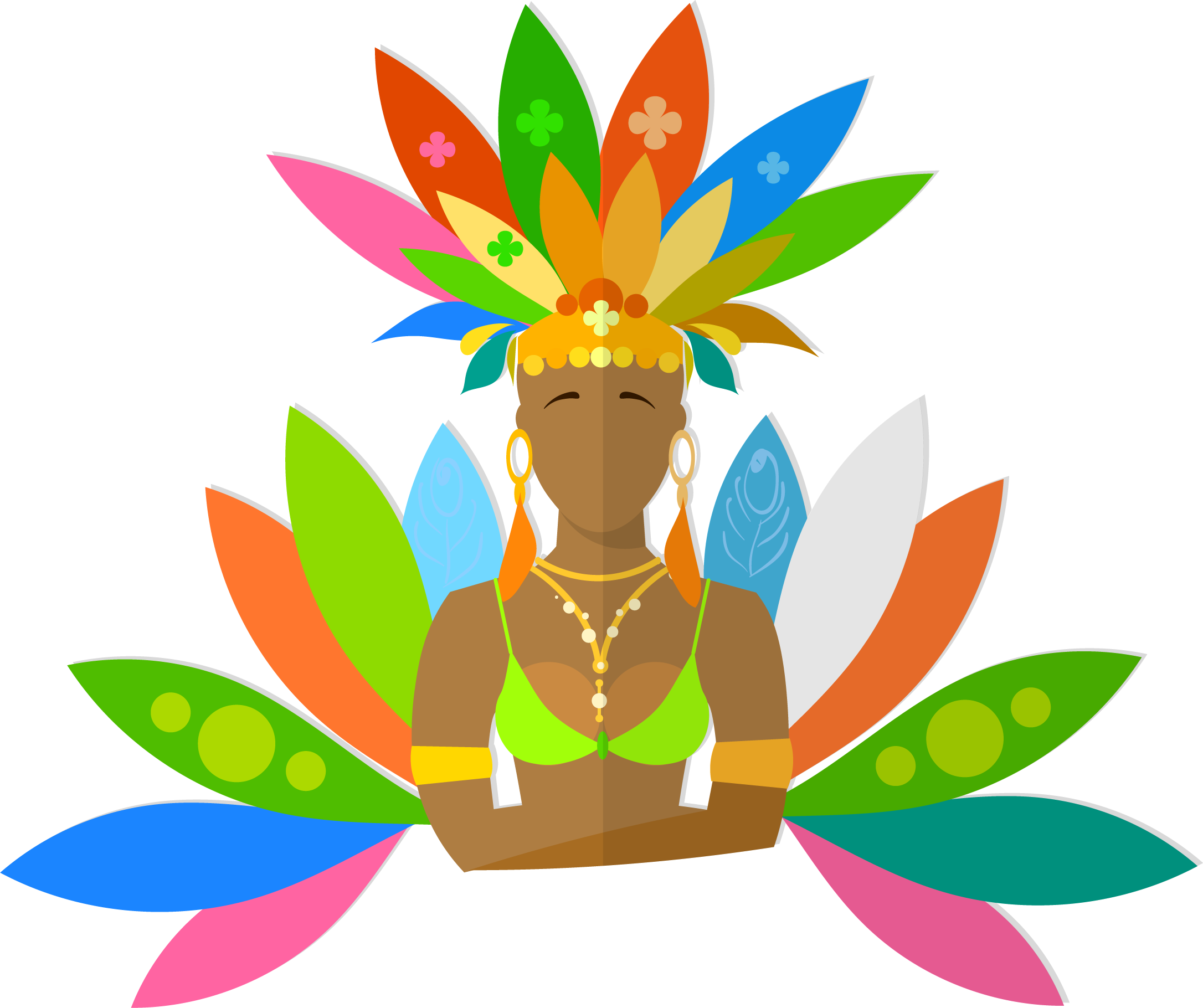 Hand drawn flower clipart svg Carnival in Rio de Janeiro Brazilian Carnival Clip art - Hand Drawn ... svg