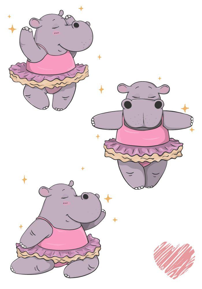 Dancing hippo clipart clip transparent Character design: hippo dancing ballet   Hippopotamus in 2019   Cute ... clip transparent