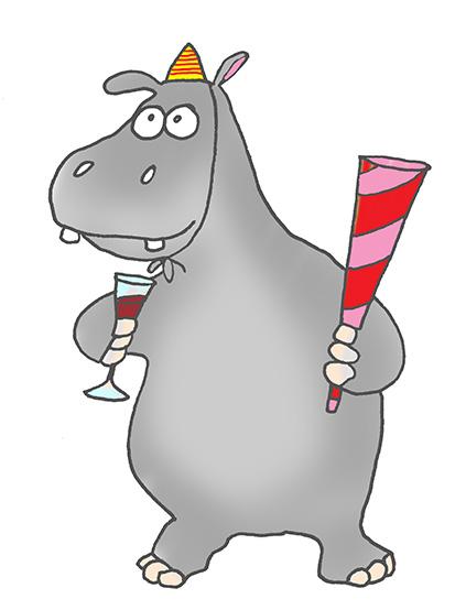 Dancing hippo clipart svg free stock Cartoon Hippo Clipart svg free stock