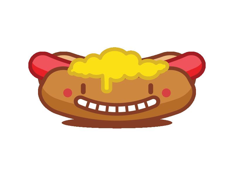 Dancing hot dog clipart clip art freeuse Hotdog Emoji by Fábio Rex - Dribbble clip art freeuse