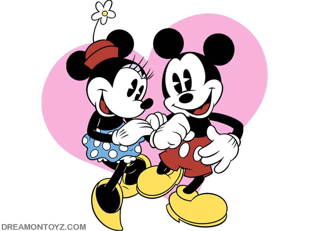 Dancing minnie mouse pink heart background clipart banner royalty free stock mickey minnie pictures | Wallpaper of Mickey and Minnie ... banner royalty free stock