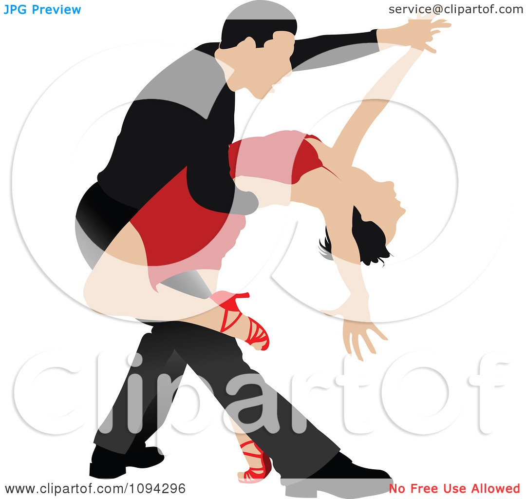 Dancing number 1 clipart. Tango couple royalty free