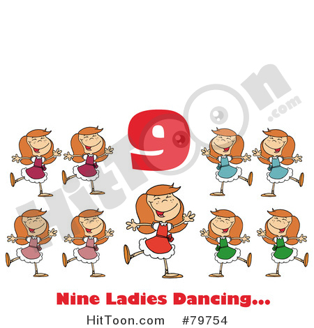 Dancing number 1 clipart. Dance royalty free stock