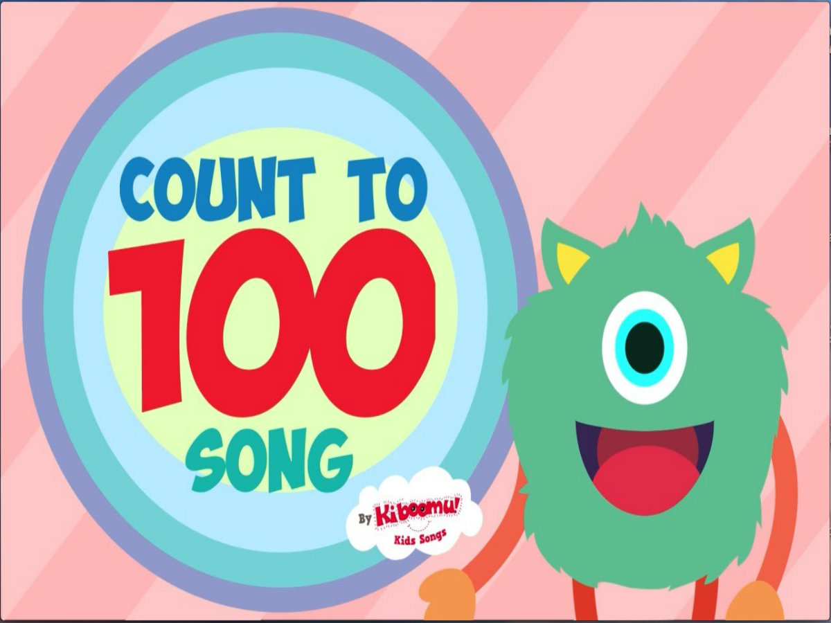 Dancing number 1 clipart vector black and white library Count To 100 Song For Kindergarten | Numbers 1-100 Dance Song For ... vector black and white library