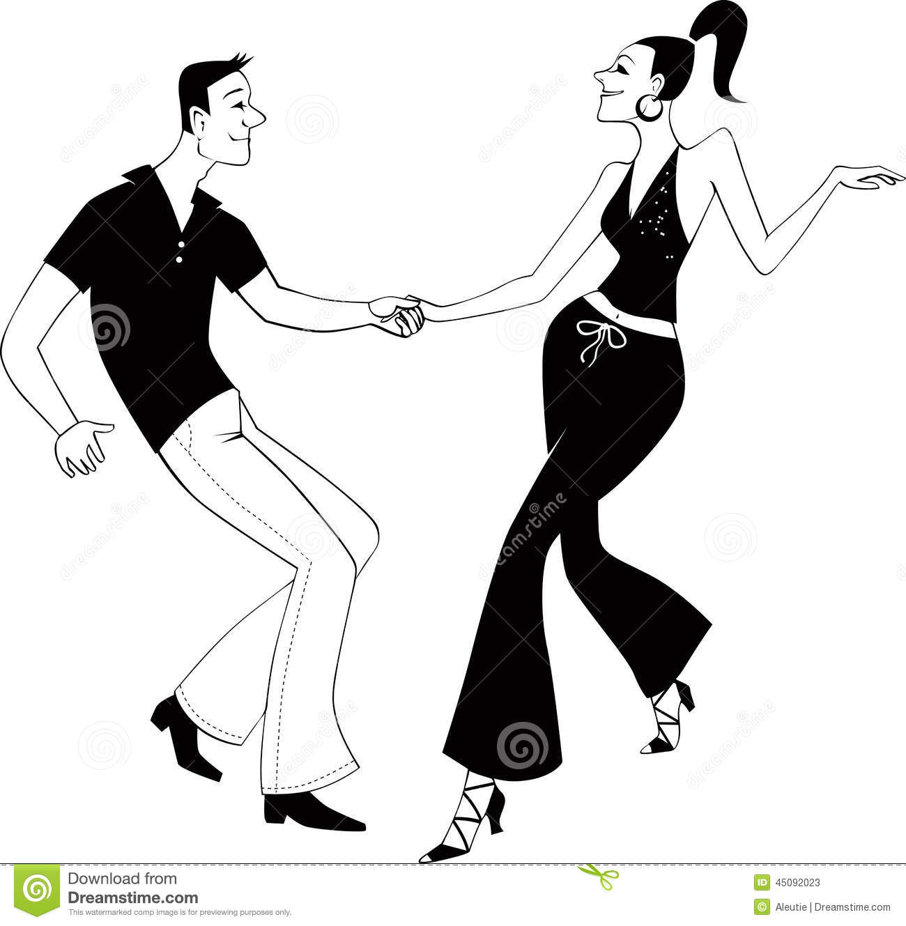 Dancing number 1 clipart picture Black Couple Dancing Clipart picture