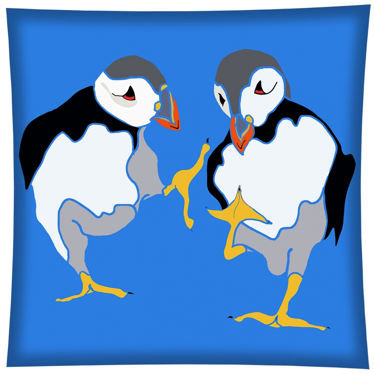 Dancing puffin clipart freeuse stock Dancing Puffins freeuse stock