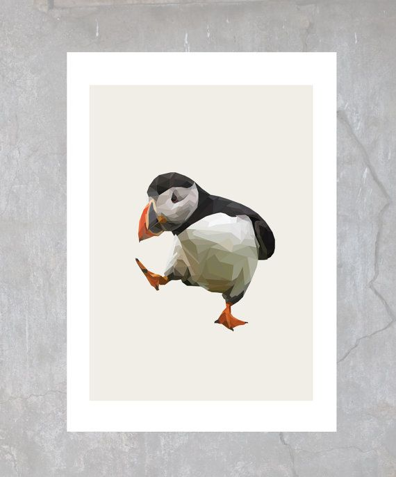Dancing puffin clipart graphic stock Puffin illustration, poster | Artwork in 2019 | Puffins bird ... graphic stock