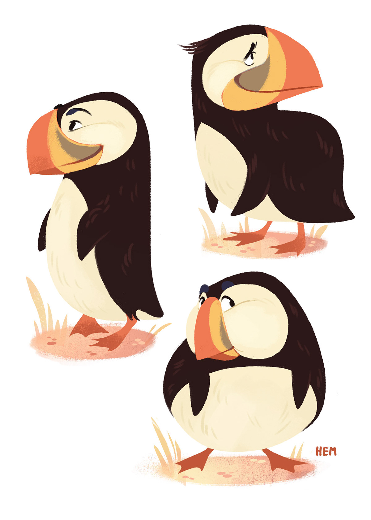 Dancing puffin clipart picture royalty free Puffins! on Behance picture royalty free