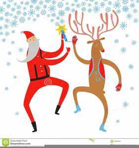 Dancing reindeer clipart freeuse library Santa Dancing Reindeer Clipart | Free Images at Clker.com ... freeuse library